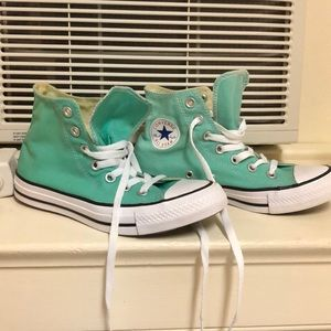 Teal Converse All Star High Tops